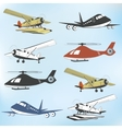 Set of vintage retro aeronautics flight badges vector image vector image