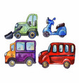 set of watercolor car stickers vector image vector image