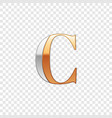 silver and gold font symbol alphabet letter c vector image vector image