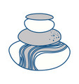 spa stones cartoon vector image vector image