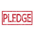 stamp pledge word vector image vector image