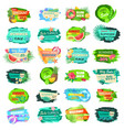 summer sale advertisement icons labels vector image