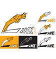 symbol lynx is jumping vector image vector image