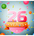 Twenty six years anniversary celebration vector image vector image