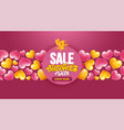 valentines day sale advertising banner template vector image vector image