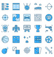 videos games and gaming blue icons game creative vector image
