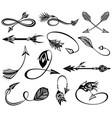 vintage arrows vector image vector image