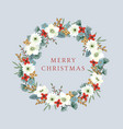 vintage christmas new year greeting card vector image