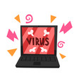 virus attacking laptop vector image
