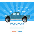 website design with pickup truck vector image