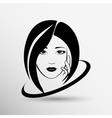 Woman face fashion girl beauty vector image