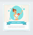 young woman taking shower daily routine hygiene vector image