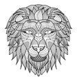 Lion head front vector image