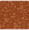 Harvest festival seamless pattern with vegetables vector image