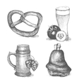 traditional food in retro style for Oktoberfest vector image