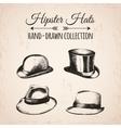 Hipster fashion vintage elements hand-drawn mega vector image