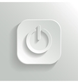 Power icon - white app button vector image
