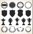 a collection badge labels and ribbons vector image vector image