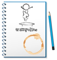 A notebook with a trampoline at the cover vector image vector image