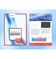 Annual report brochure Flyer design template Cover vector image