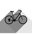 bicycle bike sign black icon with two vector image vector image