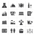Black Restaurant cafe and bar icons