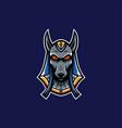 blue anubis mascot logo pharaoh mascot logo vector image vector image
