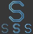 Blue line s logo design set vector image vector image