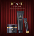 brand cream and lotions in tube cosmetics vector image vector image