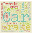 Car Maintenance And Repairs text background vector image