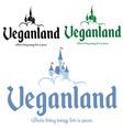 castle vegan image tshirt print vector image vector image