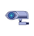 cctv camera isolated icon vector image vector image