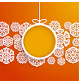 Christmas paper card vector image vector image