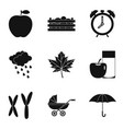 chromosome icons set simple style vector image