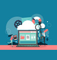 cloud computing concept flat style design vector image