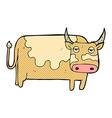 comic cartoon cow vector image vector image