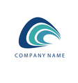 concept logo template with abstract wave symbol vector image