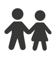 couple avatar silhouette isolated icon vector image vector image