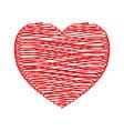 crayon valentine vector image