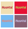 creative of hospital word lettering typography vector image vector image