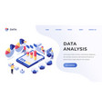 data analysis landing page vector image vector image