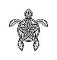 Decorative graphic turtle vector image