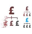 dust pixel halftone pound hierarchy icon vector image vector image