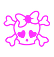 Emo skull vector image vector image