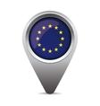 EU flag pointer vector image vector image