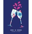 fairytale flowers toasting wine glasses vector image vector image