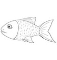 fish outline drawing vector image vector image