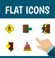 flat icon door set of emergency entry vector image vector image