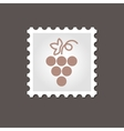 Grapes stamp Outline vector image vector image