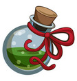 green potion icon cartoon style vector image